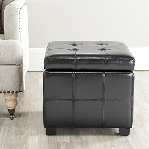Ottomans Brussels Brown Bonded Leather Storage Chest: Amazon.com: Safavieh Hudson Collection NoHo Tufted Black