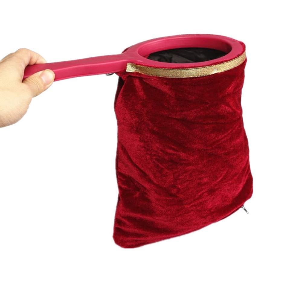 Rojo 1 PCS Ogquaton Bolsa de Cambio m/ágico Truco m/ágico con Cremallera Manija retorcida Haga Que Las Cosas aparezcan desaparezca