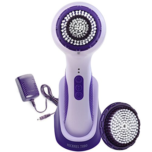 Michael Todd Soniclear Elite Antimicrobial Facial Cleansing Brush System, 6-Speed Sonic Powered Exfoliating Face Brush