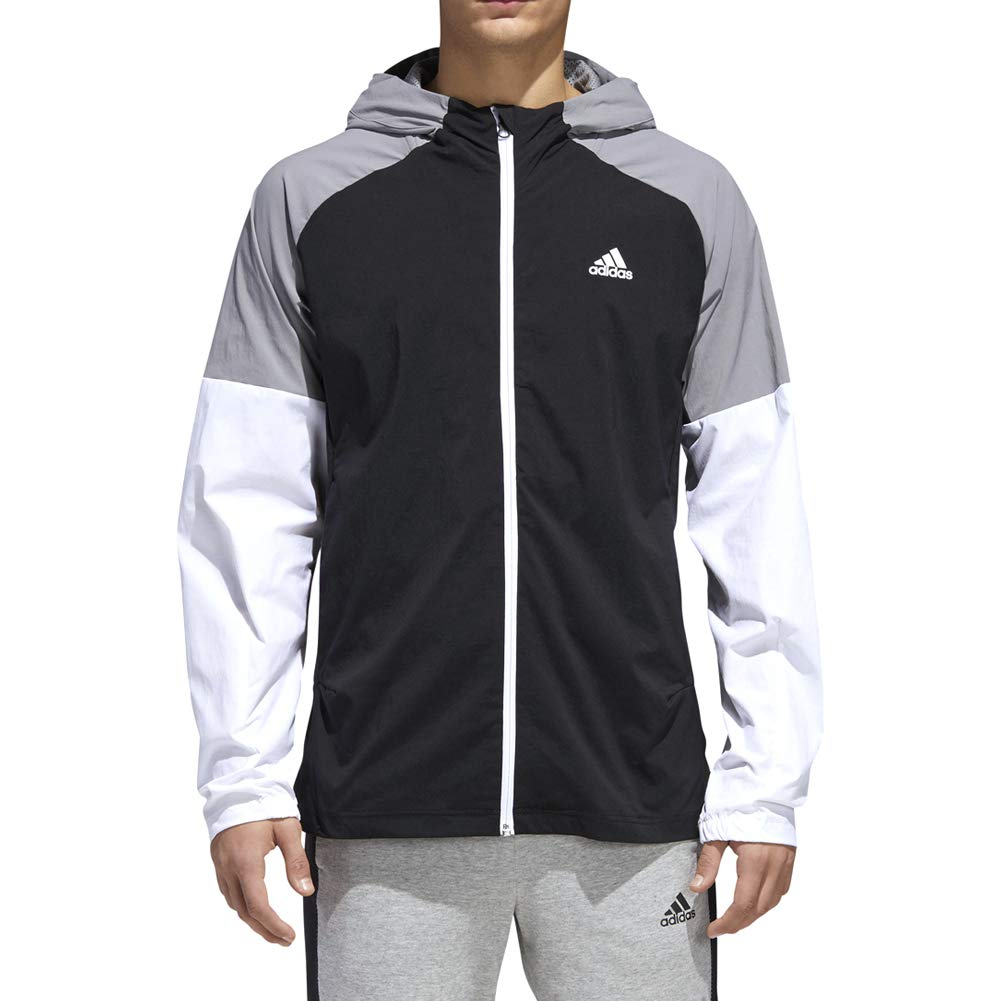 Black Small adidas Athletics Sport ID FullZip Woven Hoodie