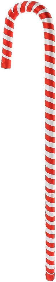MagiDeal Sucre dOrge de No/ël Bonbon Canne en Plastique D/écoration de Sapin Table Chemin/ée Rouge et Blanc 30cm