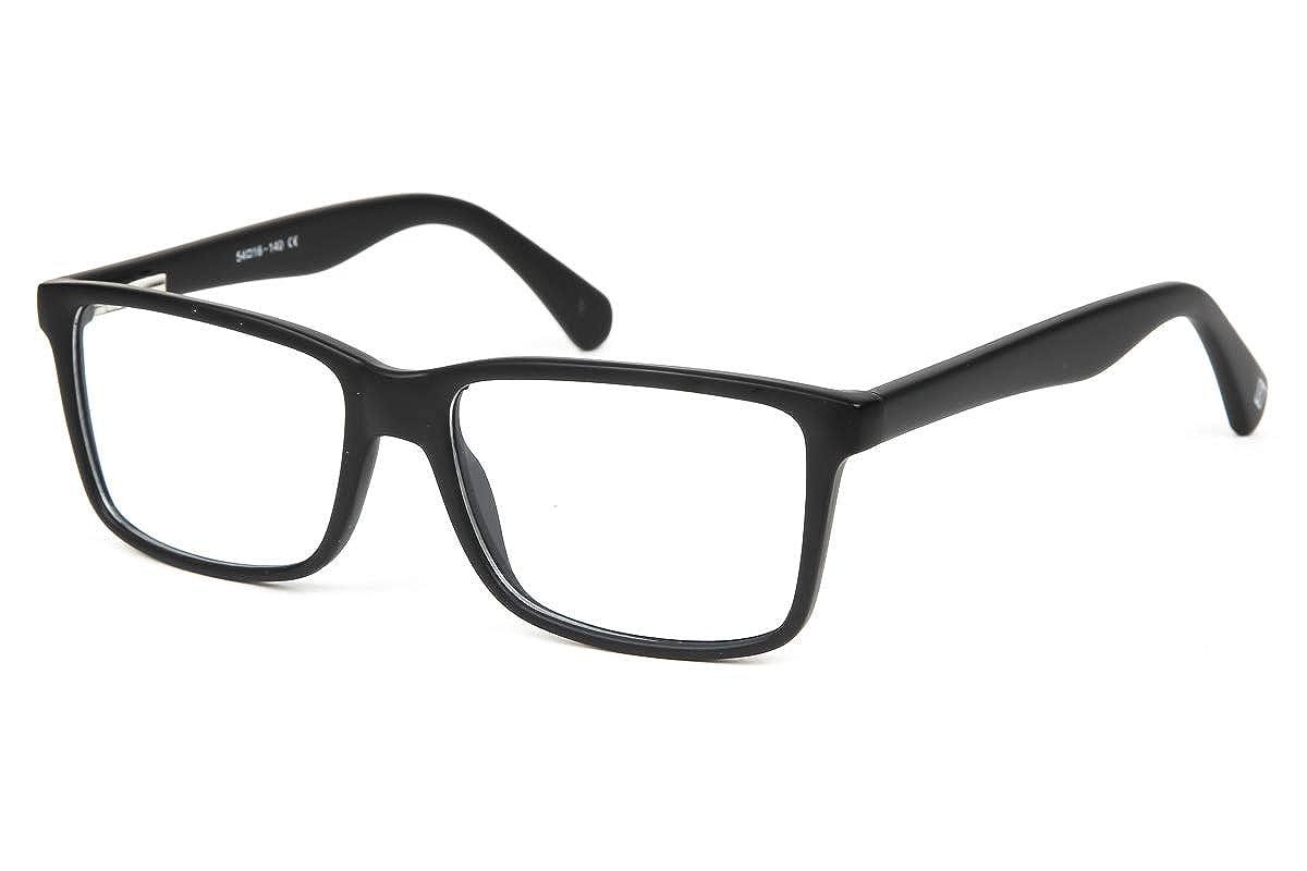 42b8bbc73be2 SmartBuy Collection Polly Unisex Prescription Eyeglass Frames - Full Rim  Square Designer Glasses Frame - Polly Black at Amazon Men's Clothing store