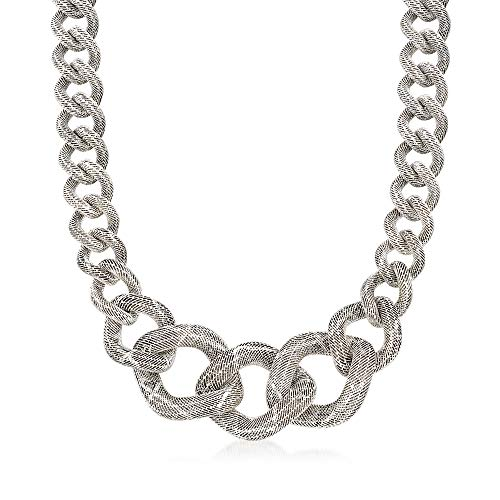 Graduated Curb Link (Ross-Simons Italian Sterling Silver Graduated Curb Link Necklace)