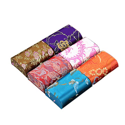 Lipstick Case with Mirror, 6pcs Silky Satin Fabric Cosmetic Case, Random Assorted Colors, Holds 2pcs Standard Lipstick