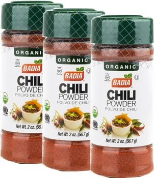 Badia Chili Powder Organic 2 oz -Pack of 3 by Badia