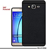 Hello Zone Exclusive Dotted Design Soft Back Case Cover For Samsung Galaxy On7 Pro -Black