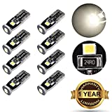 Image of simdevanma Automobile LED Bulbs T10 194 168 175 2825 with 3030 Chipset Xenon White for Interior Dome Map Door Courtesy License Plate Lights Compact Wedge and Set of 8pcs