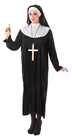 Bristol Novelty AC023 Nun Costume (UK Size 10-14)  sc 1 st  Amazon UK : nun costume uk  - Germanpascual.Com