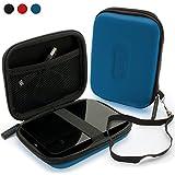 iGadgitz Blue EVA Hard Travel Case Cover for Western Digital My Passport Ultra, Ultra Metal, Air, Mac, X & WD Elements 500GB 1TB 2TB 3TB Portable External Hard Drives