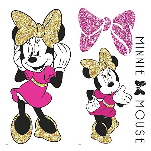 Amazon.com: RoomMates 5 in. x 11,5 en. 4 piezas Minnie Mouse ...