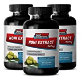 Pure noni - NONI EXTRACT 500mg - Bacterial killer - 3 Bottles 180 Capsules