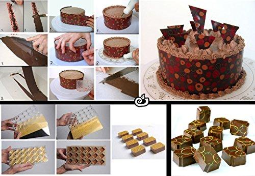 Hojas de transferencia para decorar chocolates con diseños variados (Corazones blancos) 3 Hojas por paquete: Amazon.es: Hogar