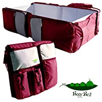 Premium 3 in 1 Diaper Bag, Travel Bassinet and Portable Changing Station, Eas...