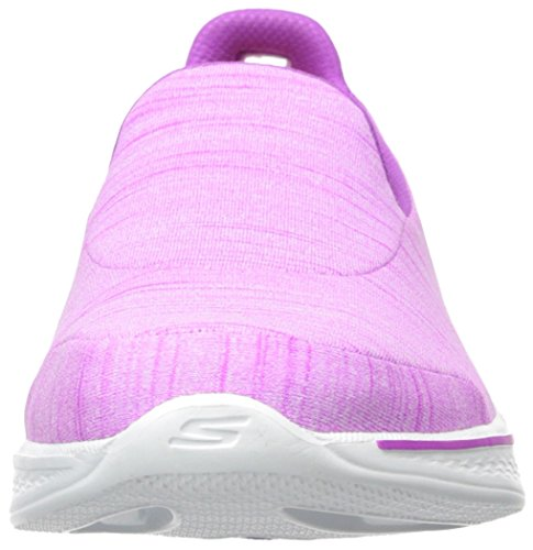 Skechers Go Walk 4-Satisfy, Zapatillas de Entrenamiento para Mujer Púrpura