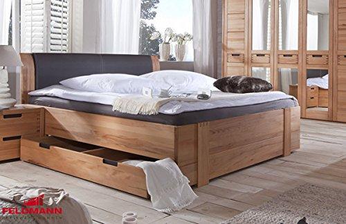 Landhaus Bett Doppelbett mit Bettschubkästen 61022 kernbuche teilmassiv 180x200cm