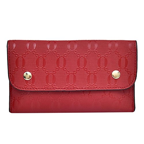 Chest Fanny Belt Flap Waist Handbags Small Pack Bags Red Ecotrump Women PU Phone Leather BUa4g
