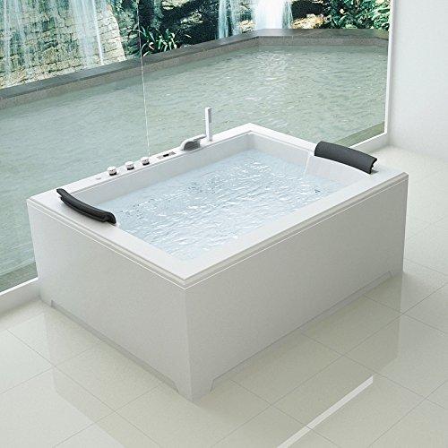 Vasca idromassaggio 180x141 Full Optional riscaldatore ozonoterapia 32 getti Bagno Italia