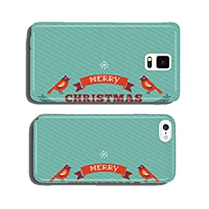 Vintage Christmas design with typography and birds cell phone cover case iPhone6 Plus