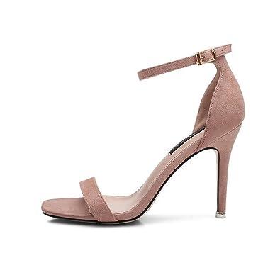 8ae9f3b33ab51 Mesdames Hauts Talons Chaussures de Demoiselle d'honneur Soirée discothèque  Banquet Chaussures de Mariage 9CM