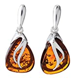"""Sterling Silver and Baltic Honey Amber Earrings """"Yvonne"""""""