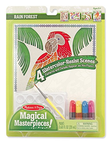 Melissa & Doug Magical Rain Forest Masterpieces Art Paper (Frog Crafts For Kids)