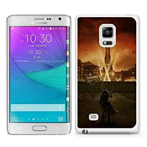High Quality Samsung Galaxy Note Edge Skin Case ,fallout city light character sky White Samsung Galaxy Note Edge Screen Cover Case Popular And Unique Custom Designed Phone Case
