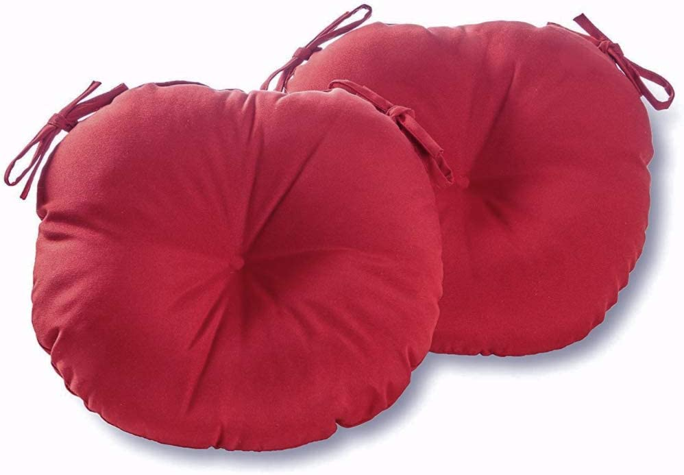 Y.Q.P.D Indoor/Outdoor Solid Suede Fabric Round Seat Patio Cushion 18