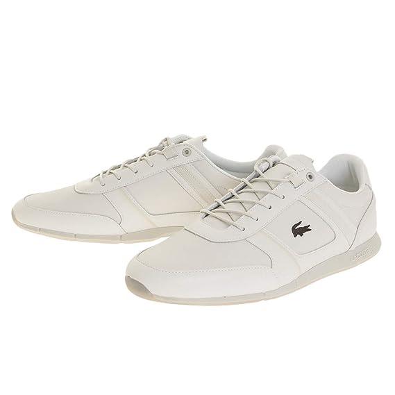 Lacoste - Zapatillas de Cuero para Hombre Negro Black Black, Color, Talla 39.5 EU: Amazon.es: Zapatos y complementos