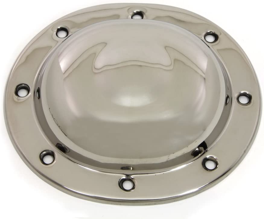 V-Twin 42-0875 Replica Dimple Derby Cover Stainless Steel