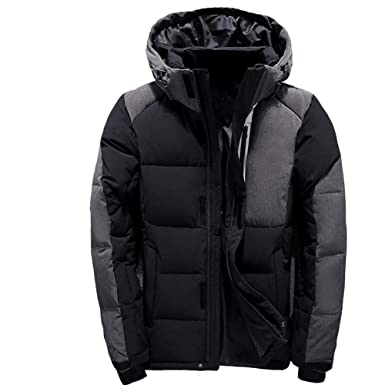 MAZF Men Down Jacket Chaqueta Plumas Hombre invierno Men Down Coat Black M