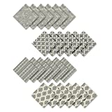 """cloth cocktail napkins  Home Fashions Everyday Casual Prints Assorted Cotton Fabric Napkins (Set of 24), 17""""x17"""", Gray, 24 Pieces"""