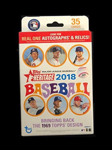 2018 Topps Heritage Baseball Retail 1 Hanger Pack