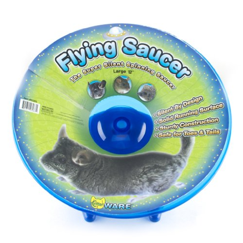 Ware Manufacturing Flying Saucer Exercise Wheel for Small Pets, 12-Inch - Colors May Vary ()