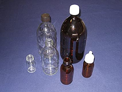 Dutscher 673306b - Botella de cristal sodocálcico, 500 ml, transparente (paquete de 35