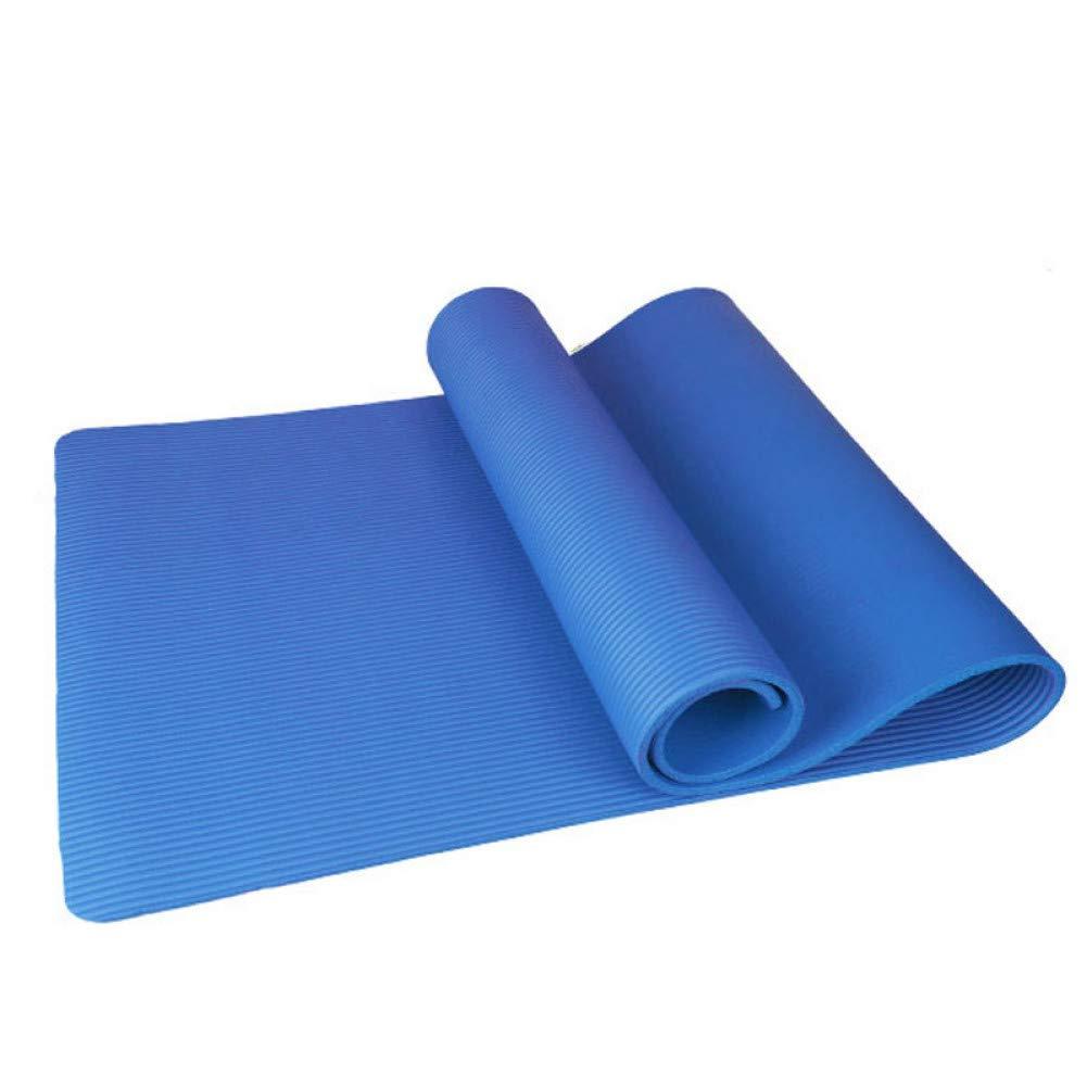 Baibian Cojín de Yoga Antideslizante, 10 mm, colchoneta de Yoga, Gimnasia, Fitness, Soporte Plano, Almohadilla,Azul