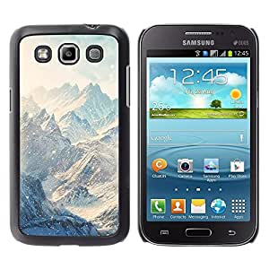 Design for Girls Plastic Cover Case FOR Samsung Galaxy Win I8550 Mountains Snow Winter Clouds White OBBA