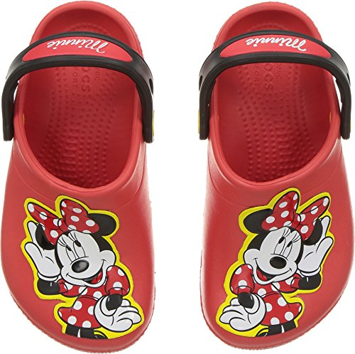 Crocs Girls' Fun Lab Minnie Clog, Flame, 8 M US Toddler by Crocs (Image #3)'