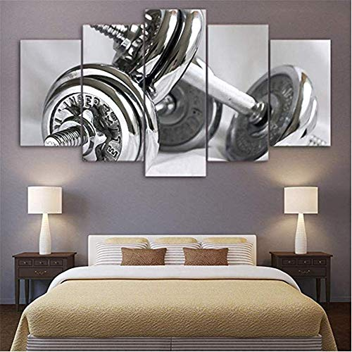 WSNDG Home Decor Canvas Painting Wall Paintings Five Fencing Warriors, Dumbbells, Taro Canvas No Picture Frame A6 40x60/2 40x80/2 40x100
