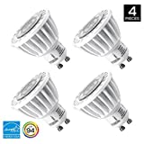 Hyperikon MR16 GU10, LED 7W (50W equivalent), Flood light bulb, 440 lumen, 4000K (Daylight Glow), CRI 90+, 120 Volt, 40° Beam Angle, Dimmable, UL-listed and ENERGY STAR Qualified - (Pack of 4)