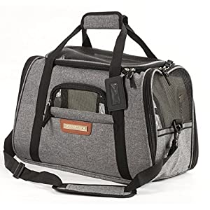 Pawfect Pets Airline Approved Pet Carrier Soft-Sided Cat Carrier and Dog Carrier for Small Dogs and Cats, Fits…