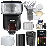 Precision Design DSLR350 High Power Auto Flash with EN-EL15 Battery & Charger + Diffuser Kit for Nikon D7200, D500, D610, D750, D810 Cameras