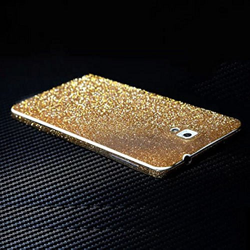 Ruilida Crystal Diamond Sparkling Body Bling Glitter Sticker Skin Film Case Screen Protector For Samsung Note 3 N9000 (Gold)