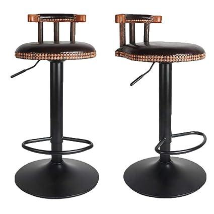 Fantastic Unho Bar Stools Set Of 2 Vintage Rustic Kitchen Pub Wooden Frankydiablos Diy Chair Ideas Frankydiabloscom
