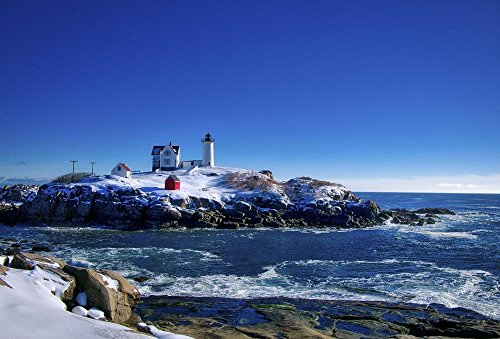 - Winter at the Nubble Lighthouse, York, Maine Photograph