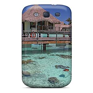 RachelMHudson Fashion Protective Turtle Enclosure Bora Bora Case Cover For Galaxy S3