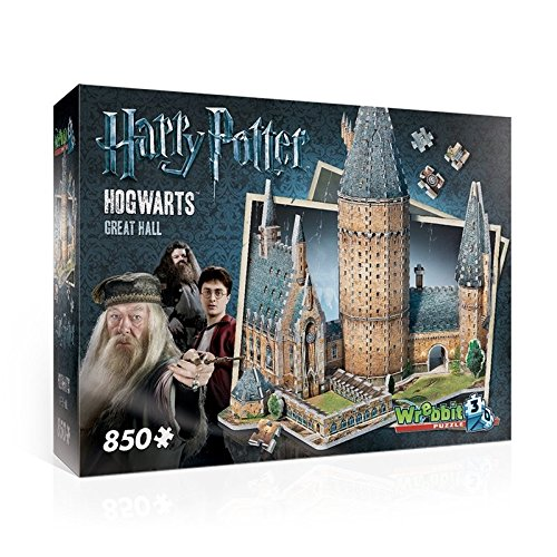 WREBBIT 3D Hogwarts Great Hall 3D Puzzle (850 Piece)