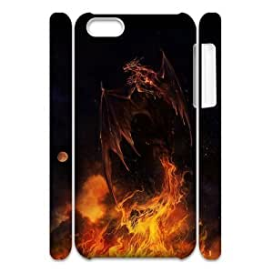 ALICASE Design Diy hard Case Red Dragon For Iphone 4/4s [Pattern-1]