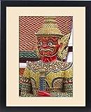Framed Print of Buddhist mythology yaksa guarding the Temple of the Emerald Buddha located