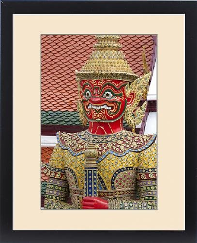 Framed Print of Buddhist mythology yaksa guarding the Temple of the Emerald Buddha located by Fine Art Storehouse