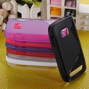 Nokia Lumia 710 Soft S-Line Wave Gel TPU Silicone Skin Case Cover --- Color:Purple